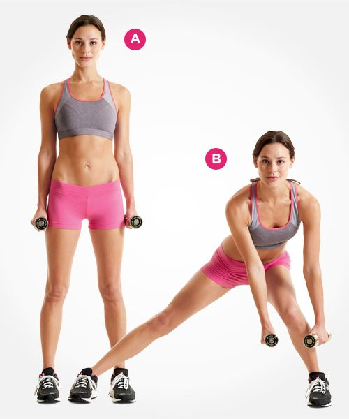 For a lower body workout that works, try this dumbbell lateral lunge and 4 more new exercises that tone your butt and thighs: www.womenshealthmag.com/fitness/new-lunge-exercises?cm_mmc=Pinterest-_-womenshealth-_-content-fitness-_-newlungestotry