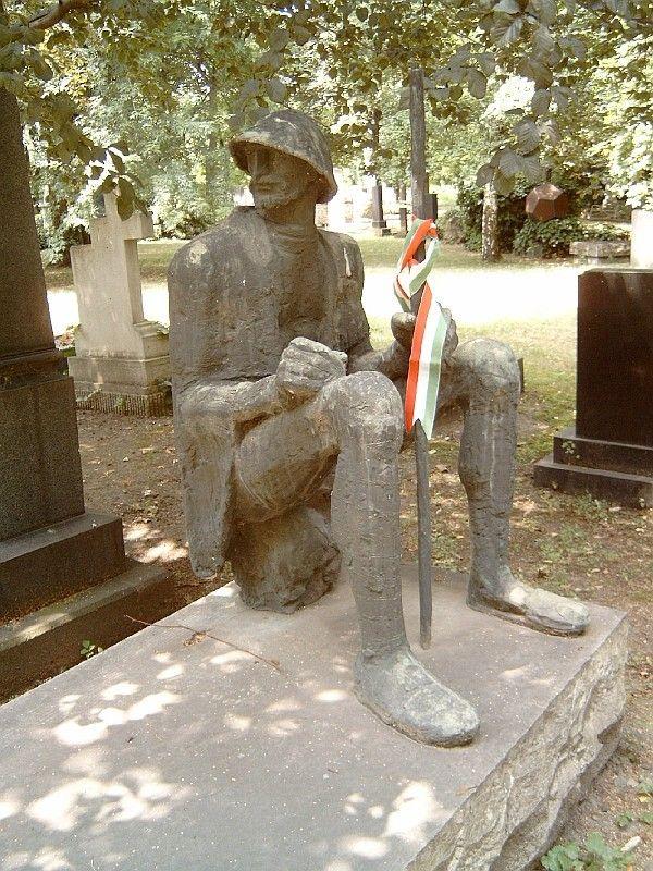 Mednyánszky László (1852-1919) sírja, Kerepesi temető Budapest (Somogyi József alkotása)
