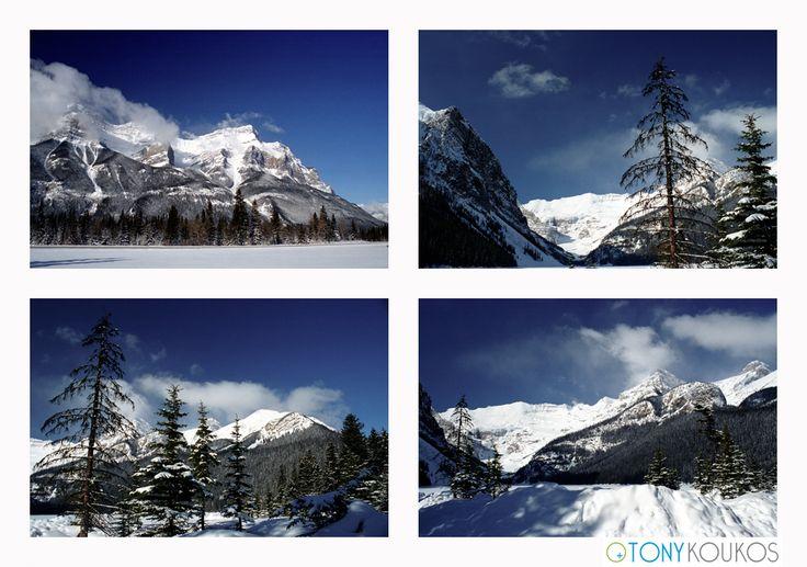 Canada, mountains, winter, snow, trees, Tony Koukos, Koukos