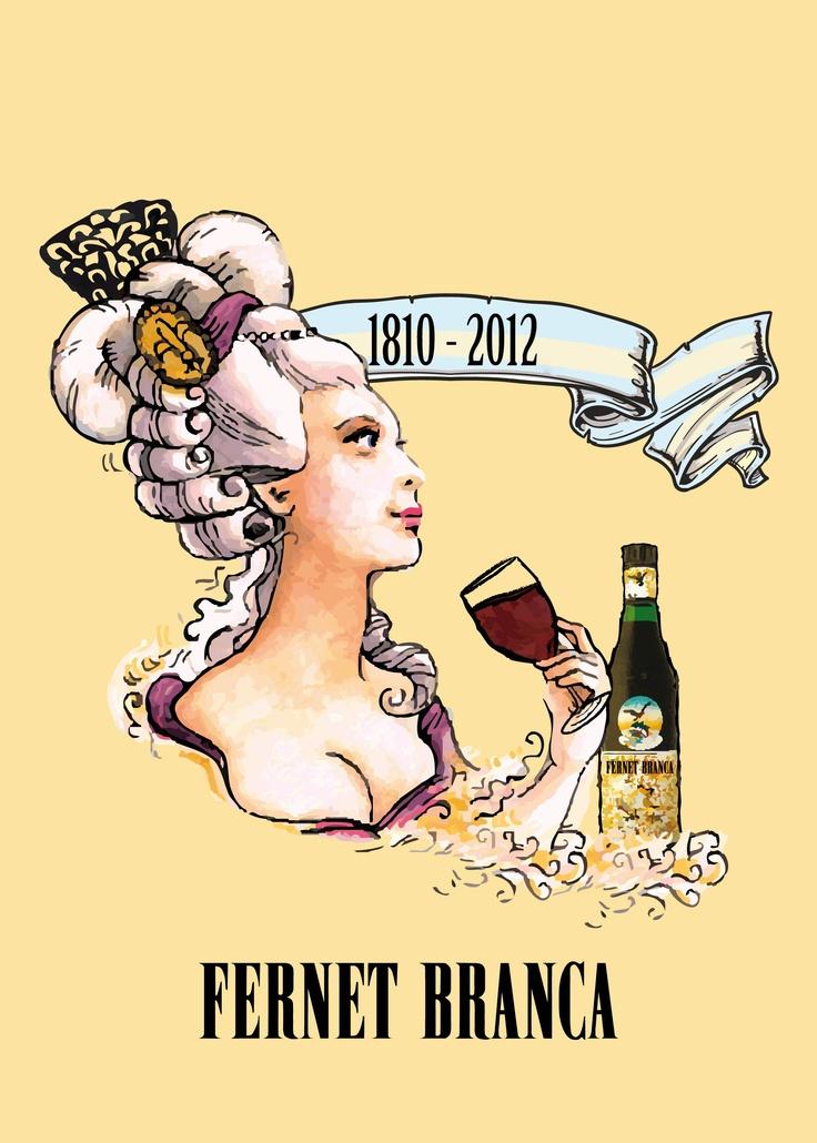 Afiche Fernet Branca Dama Antigua1.1