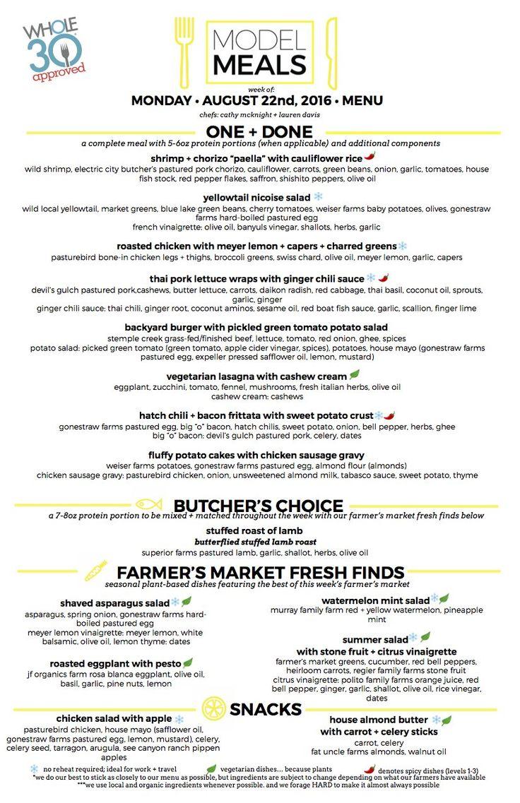 33 best model meal menus images on pinterest models weekly menu