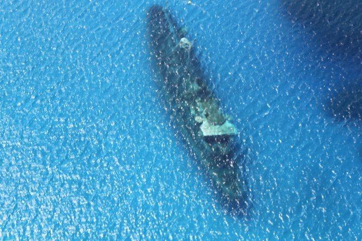 sunken ship in Caymen Islands
