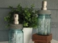 I so need to make these...maybe to go with my mason jar chandelier! ;)Soaps Dispeners, Blue Mason Jars, Ball Jars, Soap Dispenser, Jars Soaps, Soaps Provide, Ball Mason Jars, Kitchens Sinks, Stainless Steel