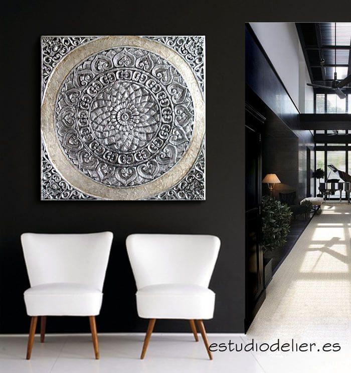 cuadro #mándala #roseton, obra original por estudiodelier.es