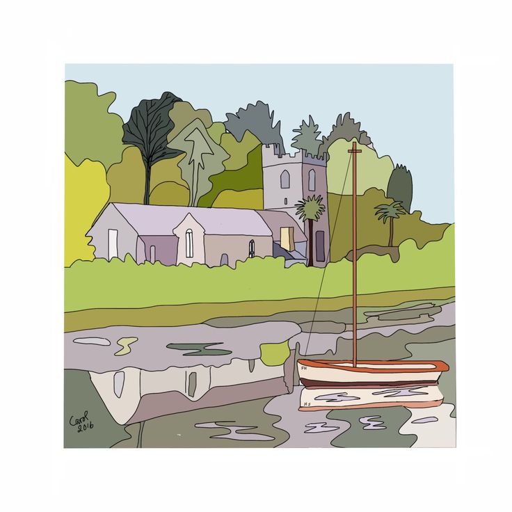 A personal favourite from my Etsy shop https://www.etsy.com/uk/listing/490611225/st-just-in-roseland-church-cornwall