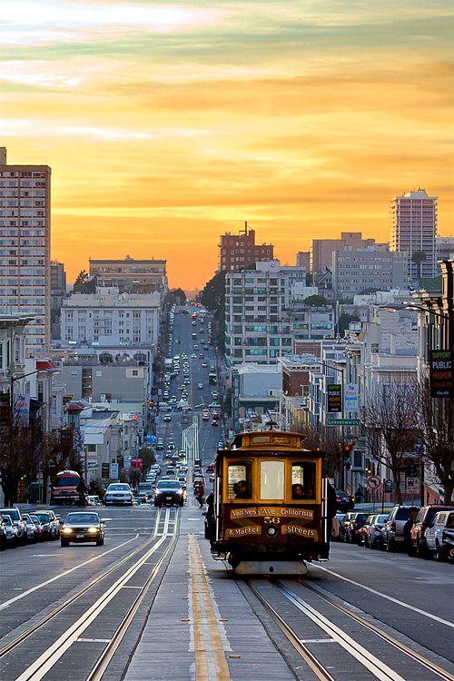 sanfrancisko:    Sunset Down California Street (NMB)