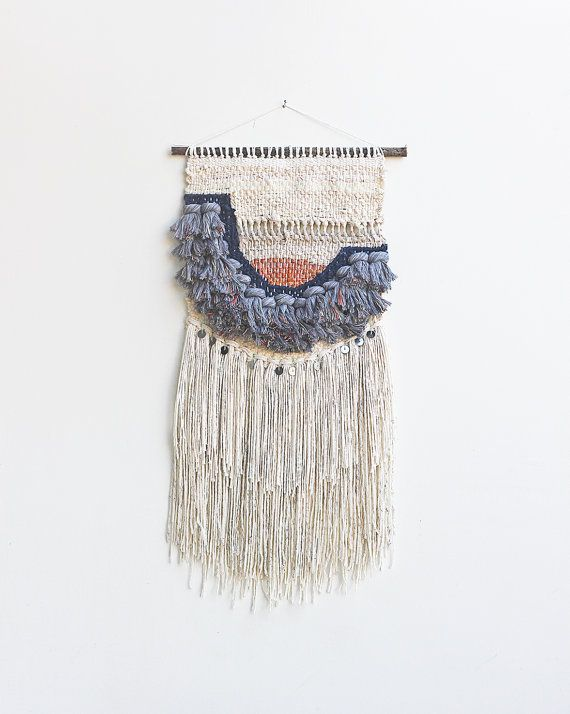 Thick Grey Fringe Weaving Woven Wall Hanging: Made to Order