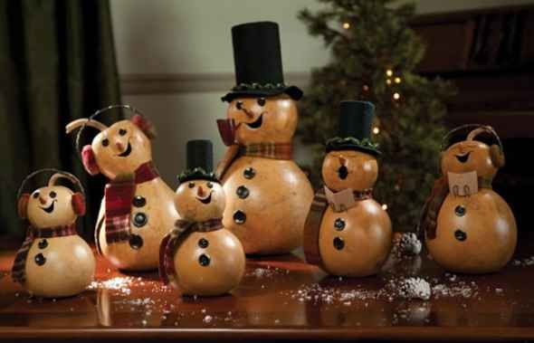 Caroler Gourds sold on www.amerheritage.com #gourds #christmasdecorations