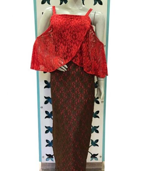 Red and brown #lace #dress http://www.elitestylings.com/9-casual-dresses