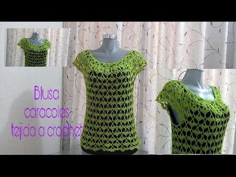 How to Crochet Striped Lace Blouse Pattern #27│by ThePatterfamily - YouTube