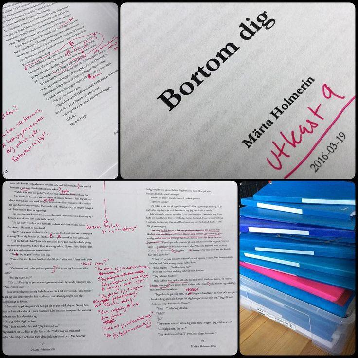 """Städar ur """"Biblioteket"""" (dvs arbetsrummet) för att få plats med nya projekt.  Min man tycker att jag har vissa hamstringstendenser. Jag tycker att jag sparar på bra-att-ha-grejer. Alltså läggs det nu i en låda på vinden i kutterspånet. �� //""""Books aren't written - they're rewritten."""" ��✍️ #deckare #kriminalroman #författarliv #kärlek #skriver http://misstagram.com/ipost/1556658283640913357/?code=BWaXHYhFf3N"""