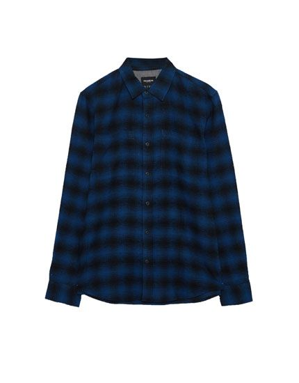 Camisa cuadros shadow - Camisas - Ropa - Hombre - PULL&BEAR España