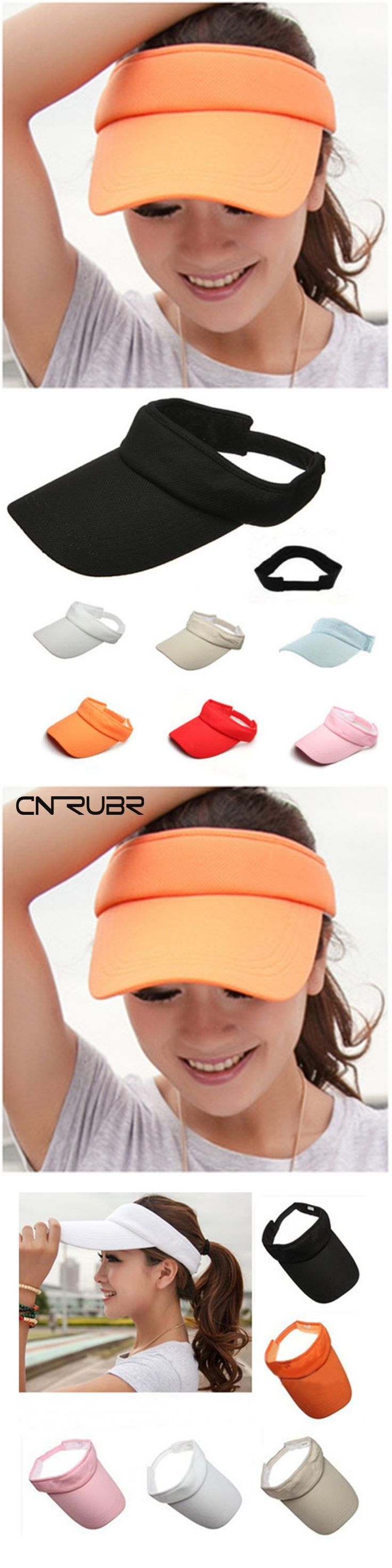 CN-RUBR 2016 New Hot Selling Tennis Caps Stylish Women Men Unisex  Beach Sun Visor Hat  Baseball Tennis Adjustable