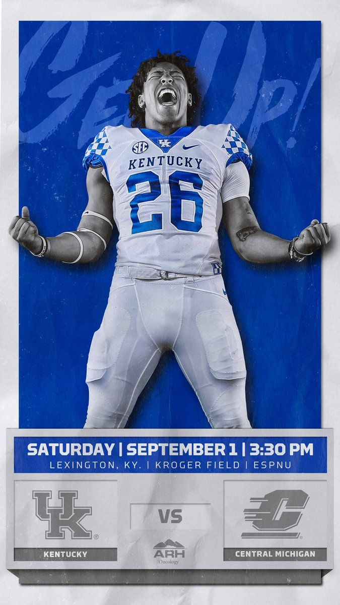 Kentucky Kentucky Football University Of Kentucky Football Sports Graphic Design