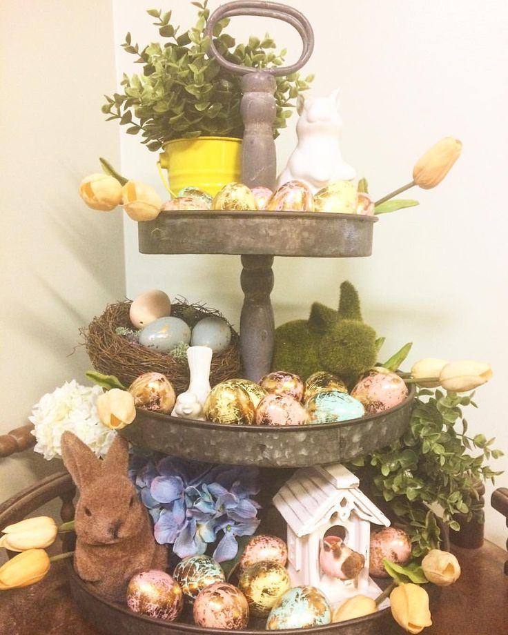 """1 Likes, 1 Comments - Erin Leigh (@restored_rubies) on Instagram: """"My tired stand from @provincialhomeliving is styled for Easter 🐣 I was so excited to get these…"""""""