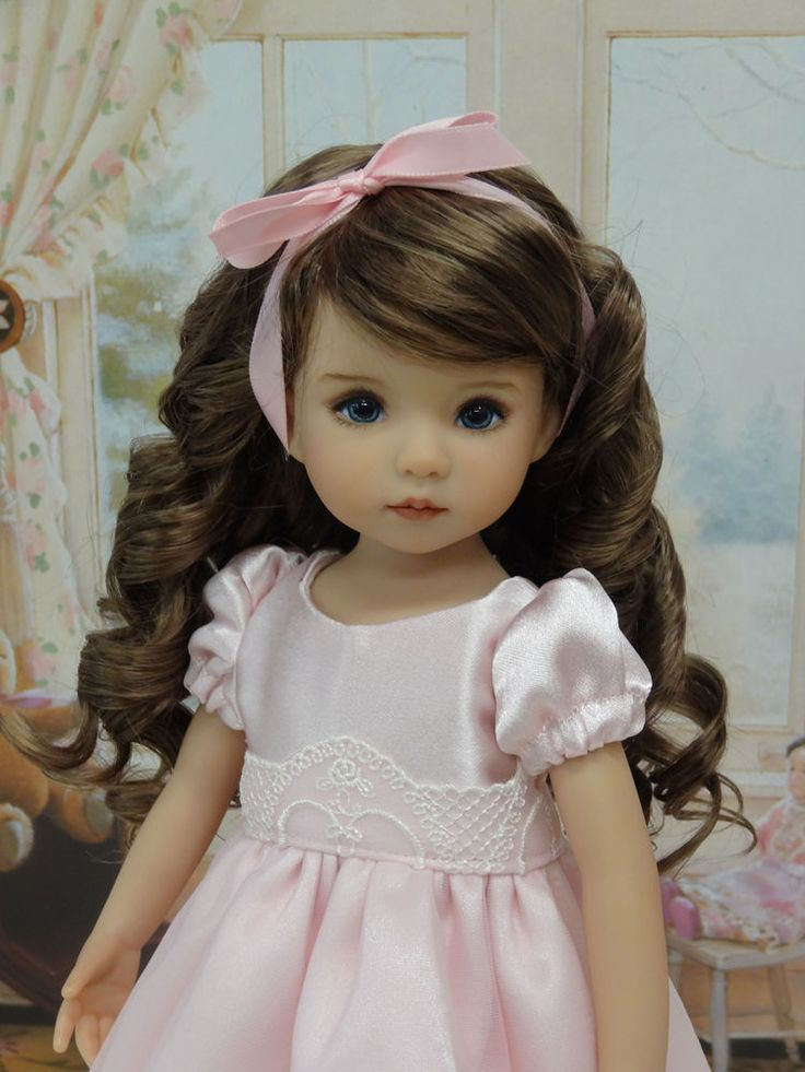 """Pink Perfection - dress, slip & shoes for Dianna Effner Little Darling Dolls 13"""" #DarlingLilBee"""