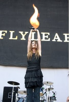 Lacey Sturm, former lead singer of the band Flyleaf. LINK: Do You Hear, What I Hear?