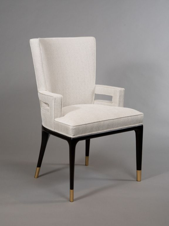 Pair of Armchairs attributed to Tommi Parzinger | From a unique collection of antique and modern chairs at https://www.1stdibs.com/furniture/seating/chairs/