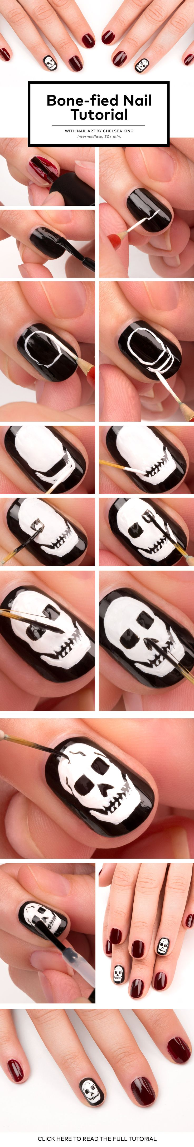 Bone-fied Nail Tutorial | Beautylish