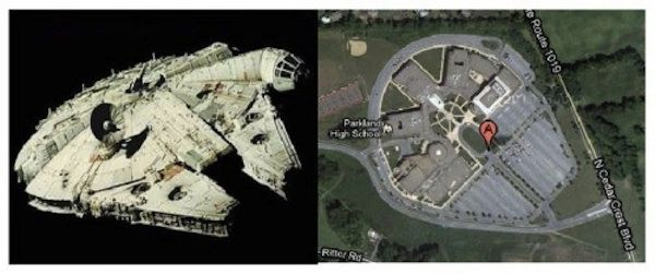 Millennium Falcon Look-Alike High School Delights 'Star Wars' Fans
