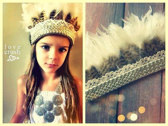l o v e  c r u s h  Boho Dreams feather crown by lovecrushbowtique, $42.00