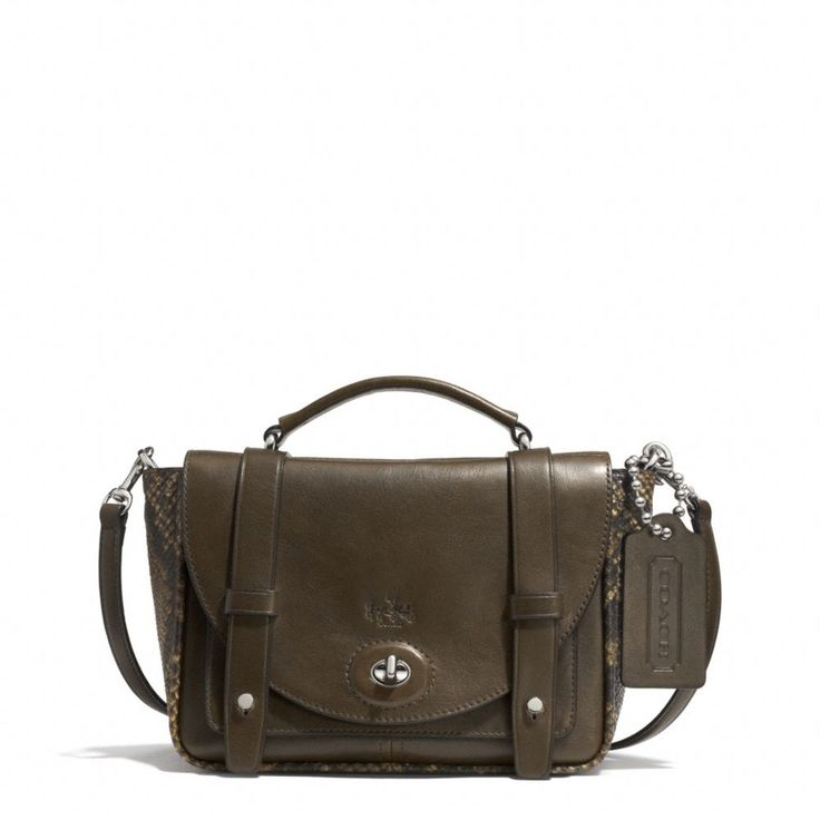 The Bleecker Mini Brooklyn Messenger Bag In Python Embossed Leather from Coach