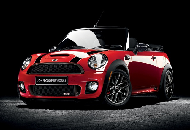 Mini Cooper S convertible, John cooper works. Want this next!