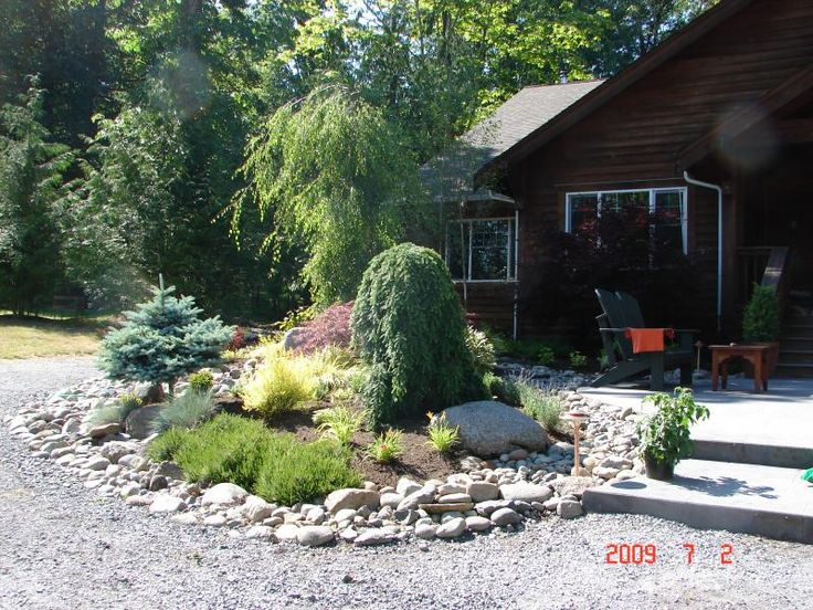 images about mountain home  landscaping on, Landscaping