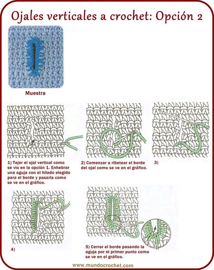 Cómo tejer ojales a crochet - Mundo Crochet