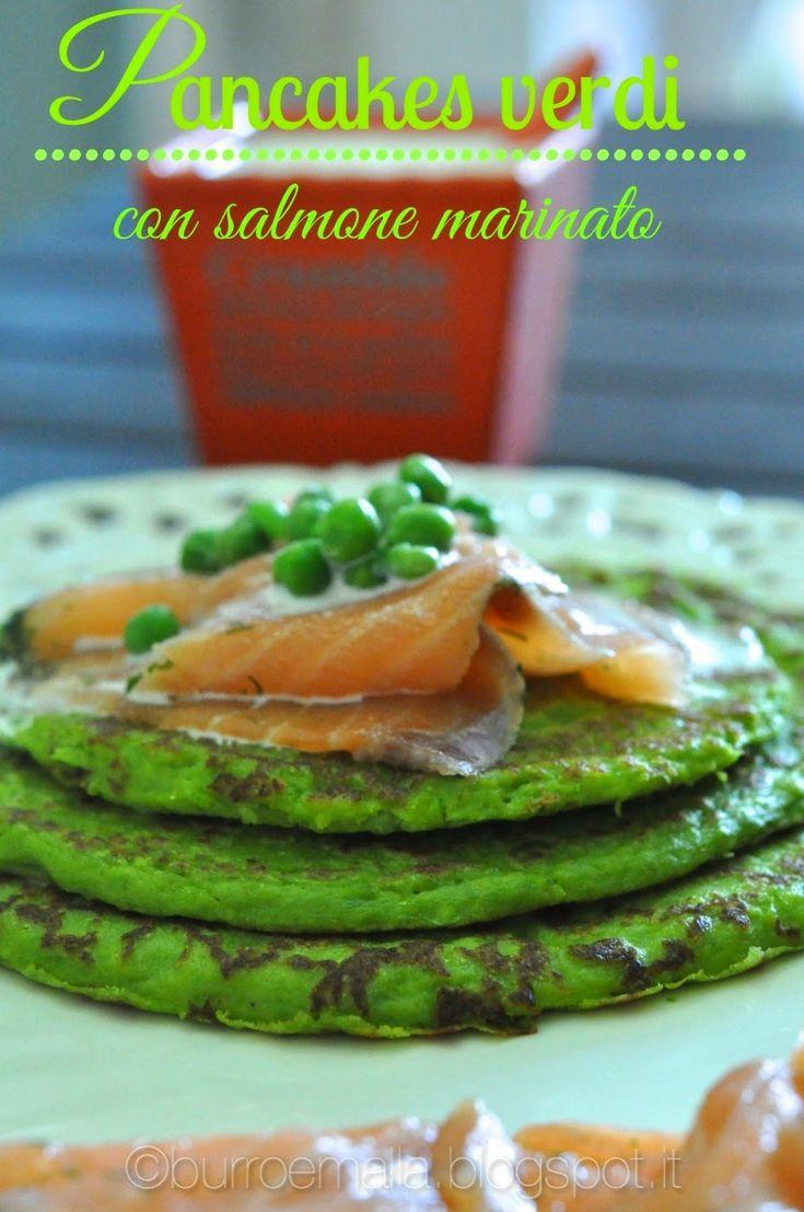 Burro e Malla: Pancakes verdi con salmone marinato
