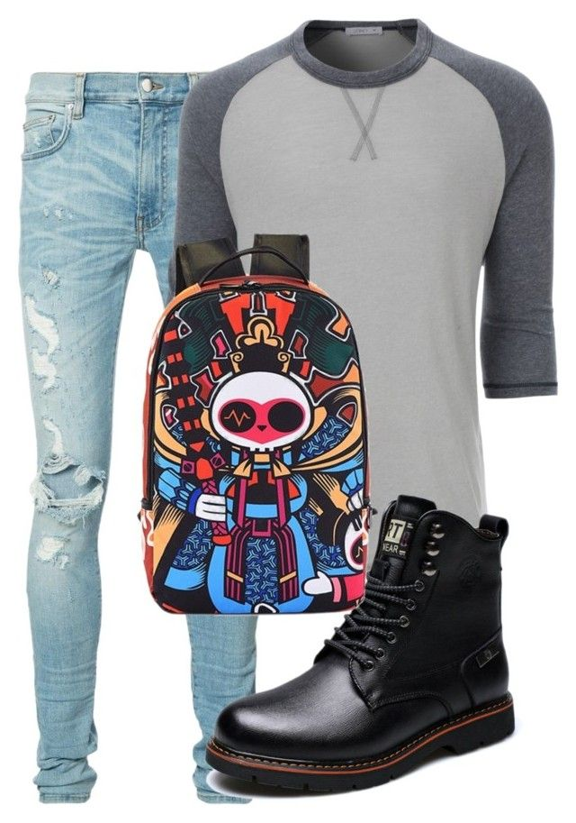 """Unbenannt #38"" by charlypony on Polyvore featuring AMIRI, LE3NO, men's fashion und menswear"