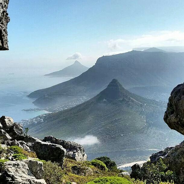 Back view, Table Mountain