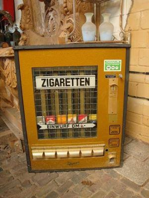 Cigarette dispenser, they decorated German townships... My dad used to send me to get him Camel packets in the afternoon when I was a kid.