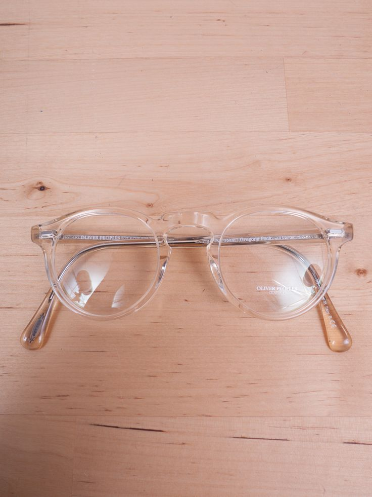 Oliver Peoples (my all time favortite brand of glasses) Great shape, transparent frame