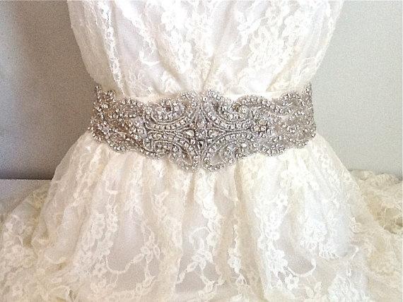 wedding dress sash
