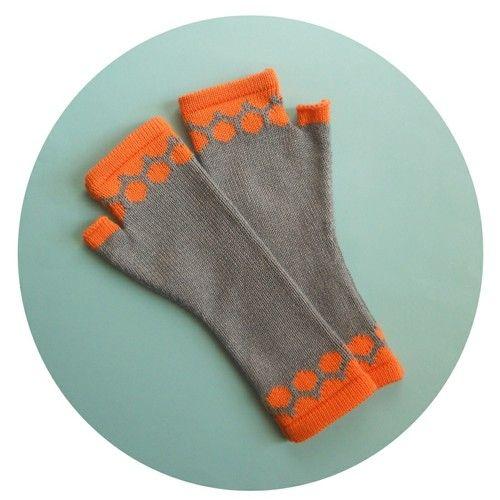 Rhea Clements - Fingerless Gloves - Spots