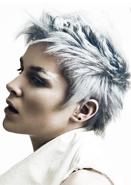 Modern grå korta frisyrer! Dessa damer har valt en trendig grå hår stil! ** Vilken tycker du är den vackraste?
