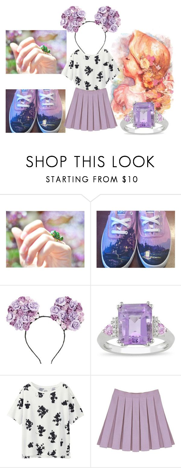 """A day at Disneyland: Rapunzel"" by cute-but-psycho-123 ❤ liked on Polyvore featuring Hot Topic, Ice and Uniqlo"