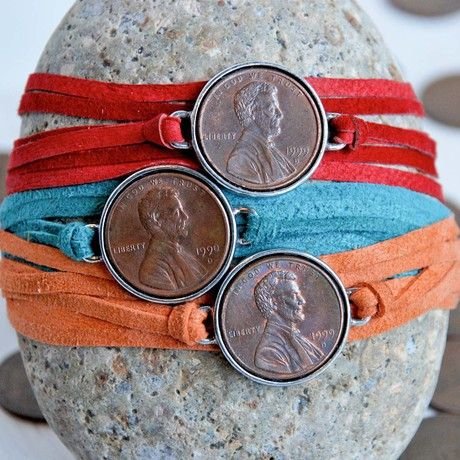 "A missionary is - one sent ($.01) by God around the world (round penny) to tell people (like Abe) about the gospel to build up the church (the memorial). ""In God we trust""  Pass them out as prayer bracelets to remember to pray for our missionaries:)"