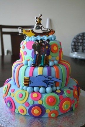 Beatles Wedding Cake