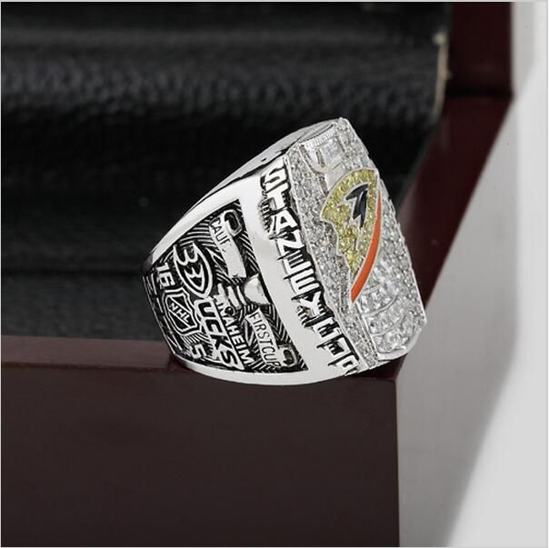2007 NHL Anaheim Mighty Ducks Stanley Cup Championship Ring Size 10-13 With Wooden Box Christmas Selanne Fans Best Gift