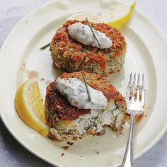 These fish cakes are chock full of creamy flaked haddock and herbed mashed potatoes.