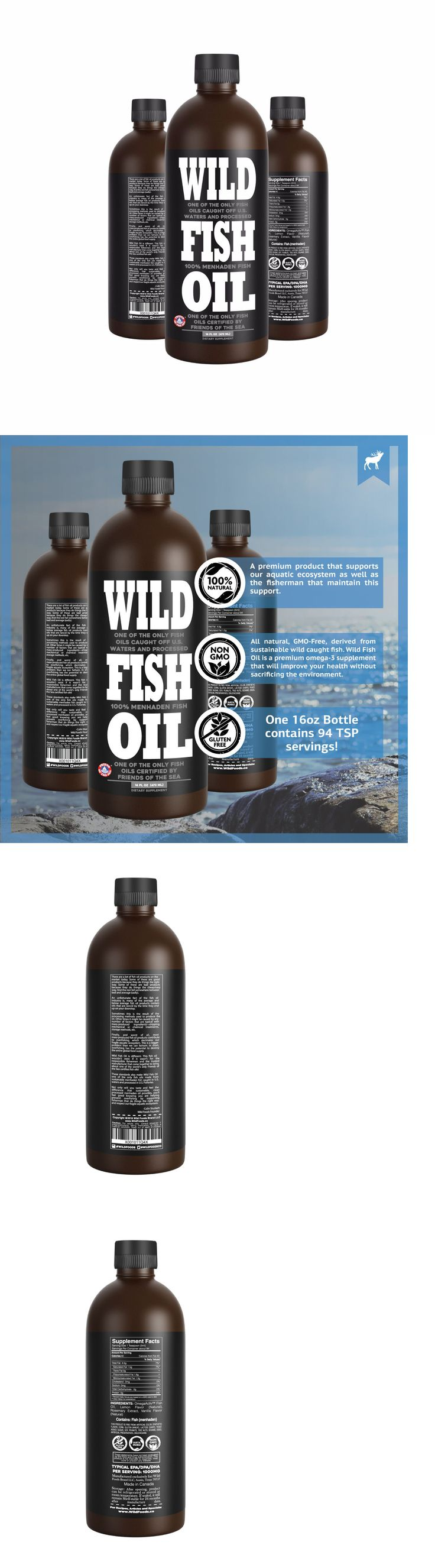 Dietary Supplements: Wild Fish Oil 16Oz Omega-3 Epa - Dha - Dpa Sustainably Harvested - Fos Certified -> BUY IT NOW ONLY: $67.95 on eBay!