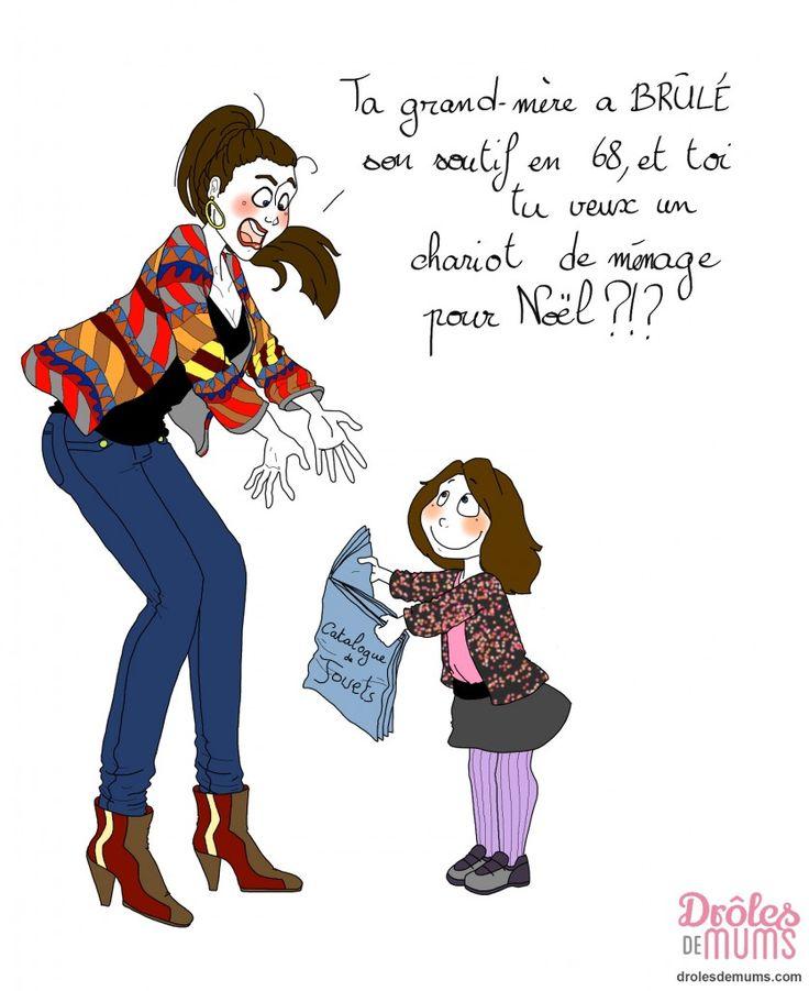féministe.. // Illustration Marie Crayon pour DROLES DE MUMS                                                     …