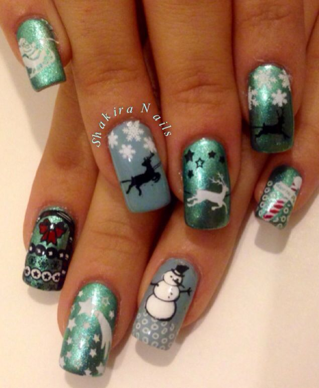 "MoYou festive collection 01 ""The North Pole"" #moyoulondon #nailart #pinup #stamp #stamping #manicure #london #London #fairy #fairytale #cuentodehadas #hadas #contest #concurso #pinterest #festive #collection #love #family #christmas #happyholidays @Monica Forghani Young-London"