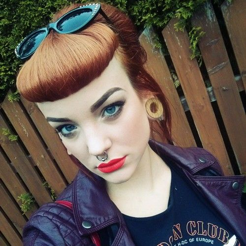 Donwood - nice girl with Don Wood tunnels - pierced girl