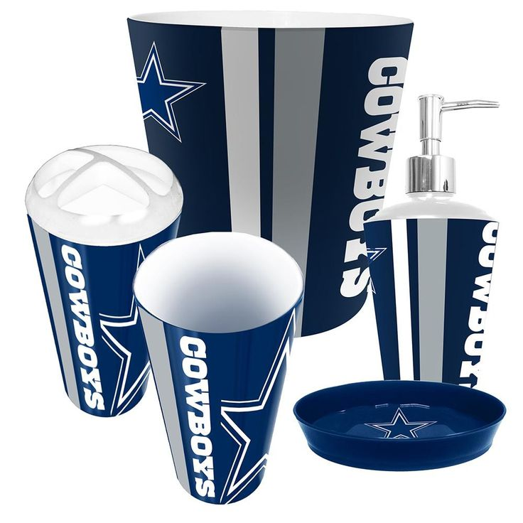 49 best dallas cowboys images on pinterest cowboys for Complete bathroom accessories sets