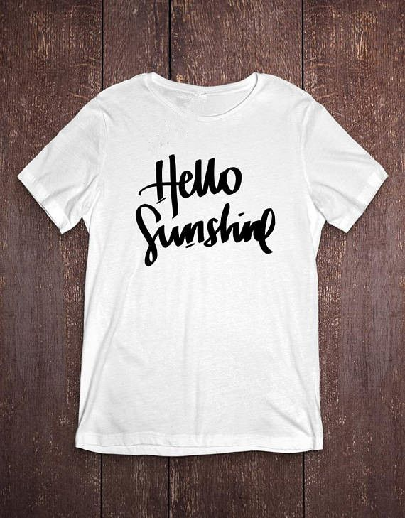 Hello Sunshine T-Shirt Boho Style T-Shirt Ladies Slogan Top blusa tumblr  girl t shirt tops aesthetic shirt fashion T shirt - Boho Gipsy Store dc9a6fec2396
