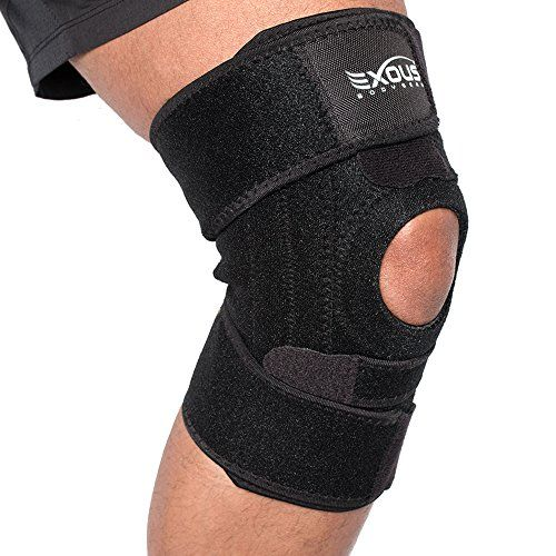 Knee Brace Support Protector – Relieves Patella Tendonitis – Jumpers Knee Mensicus Tear – ACL Lateral & Medial Ligament Sprains… #deals