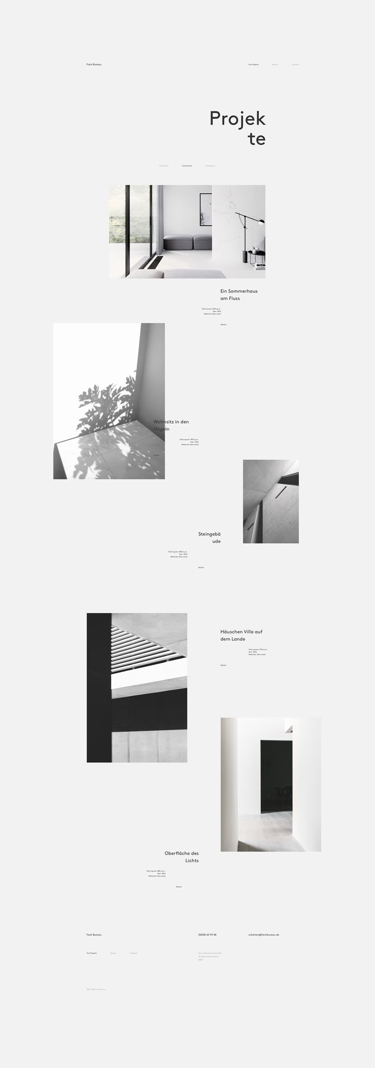 Art Direction Brand Identity Design And Website Concept For Fach Bureau Small Architecture Interior Studio Based In Germany